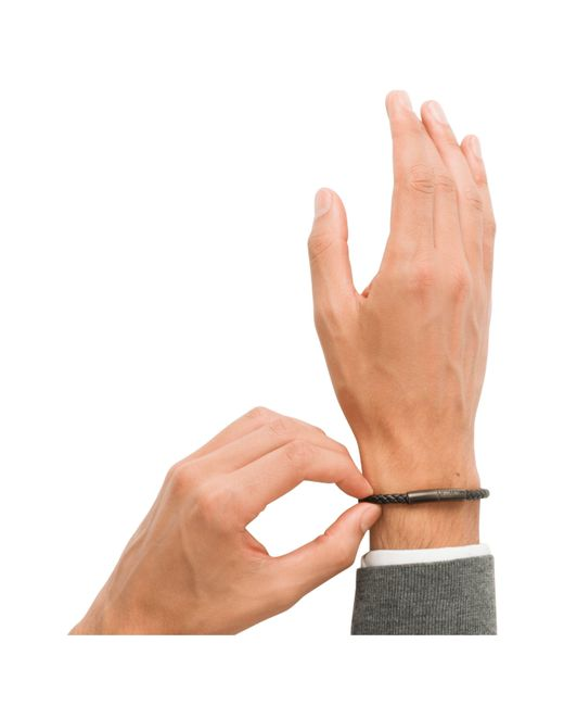 Prada - Multicolor Braided Leather Wrist Strap for Men - Lyst