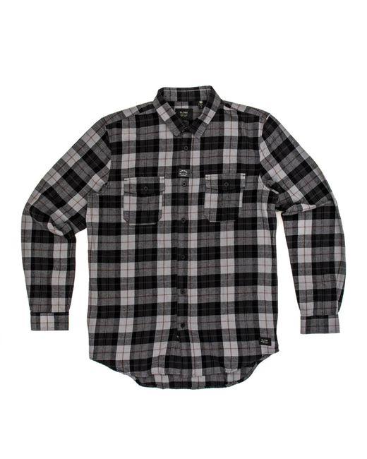 8e13053f31f Globe - Gray Flanigan Long Sleeved Shirt for Men - Lyst ...