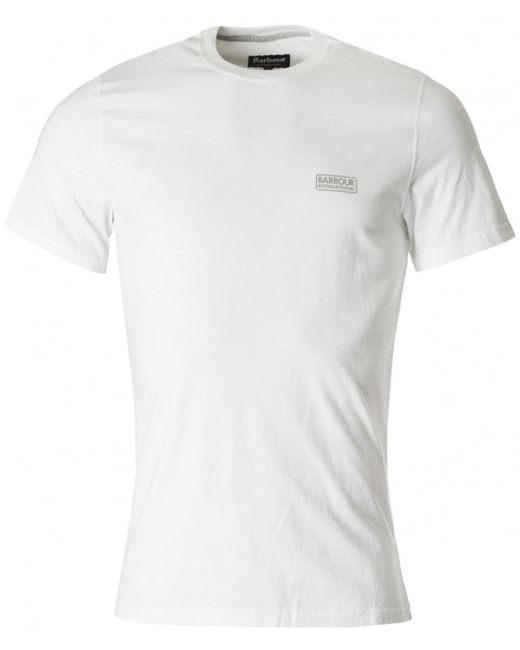 Barbour | White International Small Logo Crew for Men | Lyst