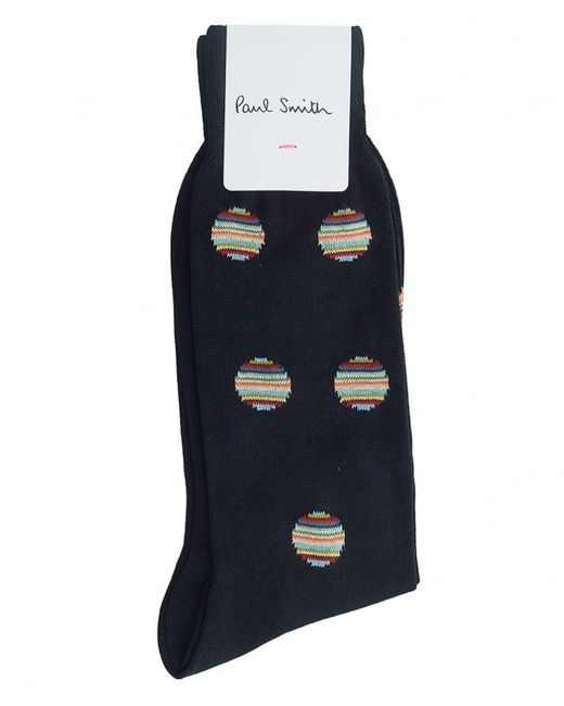 Paul Smith - Blue Multi Polka Dot Socks for Men - Lyst