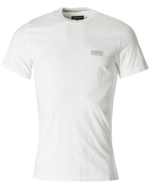Barbour | White International Small Logo Crew for Men | Lyst