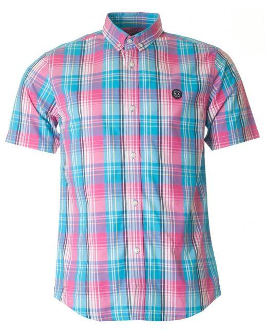 Marshall artist madras short sleeved check shirt for men for Mens madras shirt sale