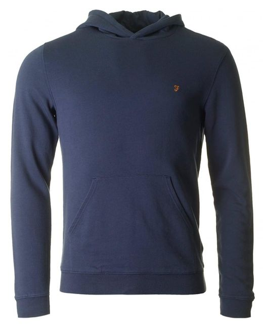 Farah - Blue Clarkenwell Garment Dyed Hooded Sweat for Men - Lyst