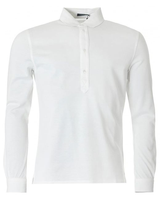 J.Lindeberg - White Cony Long Sleeved Polo Shirt for Men - Lyst