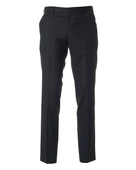 HUGO - Gray C-genisis Slim Fit Flannel Trousers for Men - Lyst