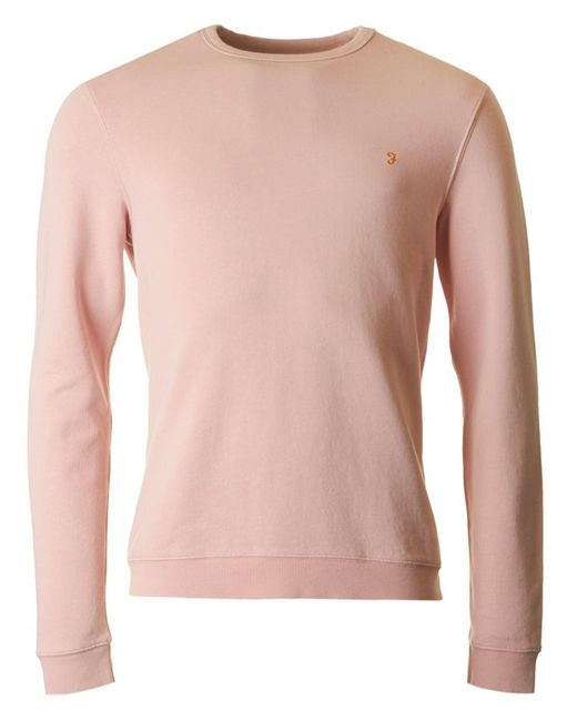 Farah - Pink Pickwell Crew Neck Sweat for Men - Lyst
