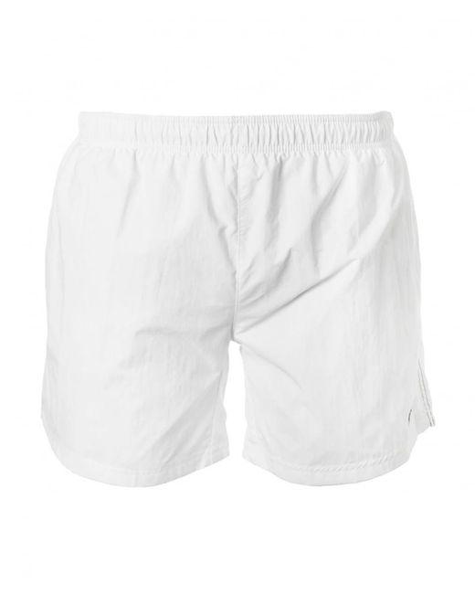 BOSS Black - White Perch Swim Shorts for Men - Lyst