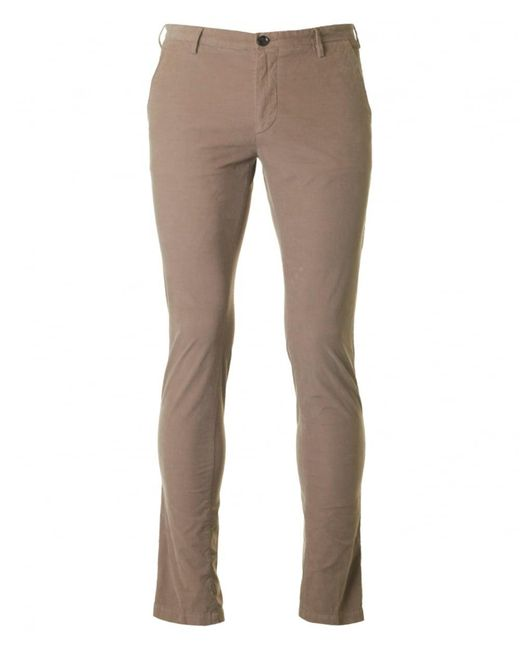 BOSS Black - Natural Rice 3-d Slim Fit Cord Trousers - Lyst