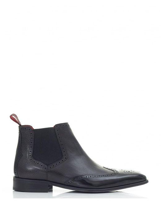 Jeffery West | Black Punch Detail Chelsea Boots for Men | Lyst