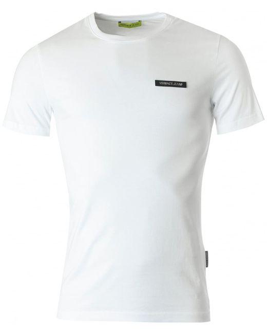 Versace Jeans - White Logo Badge Slim for Men - Lyst