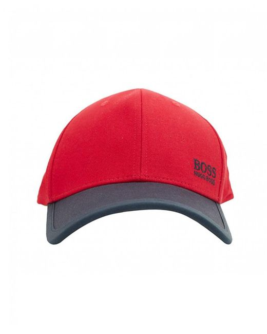 BOSS - Red Cap for Men - Lyst