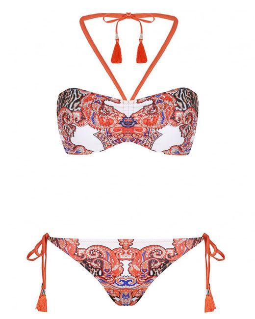 Forever Unique - Orange Print Bikini - Lyst