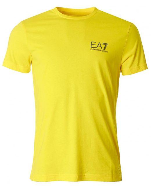 EA7 - Yellow Train Core Id Crew Neck for Men - Lyst