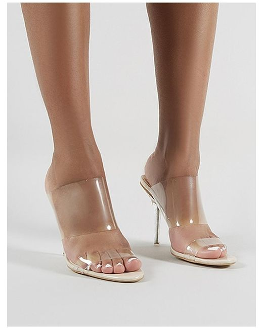 980b7226478 ... Public Desire - Natural Boujee Perspex Heel Mules In Nude - Lyst ...