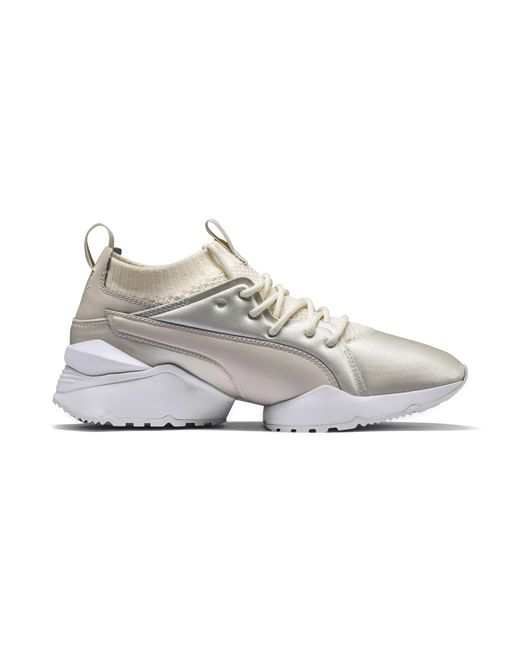 76192f2cb5e6 Lyst - PUMA Muse Maia Knit Premium Women s Shoes in White