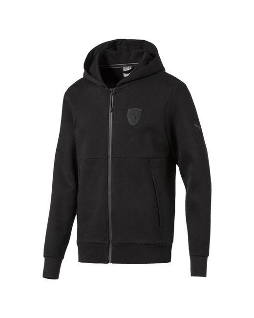 PUMA - Black Ferrari Men's Full Zip Hoodie for Men - Lyst