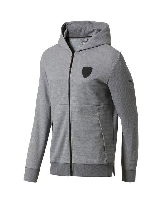 PUMA - Gray Ferrari Men's Full Zip Hoodie for Men - Lyst