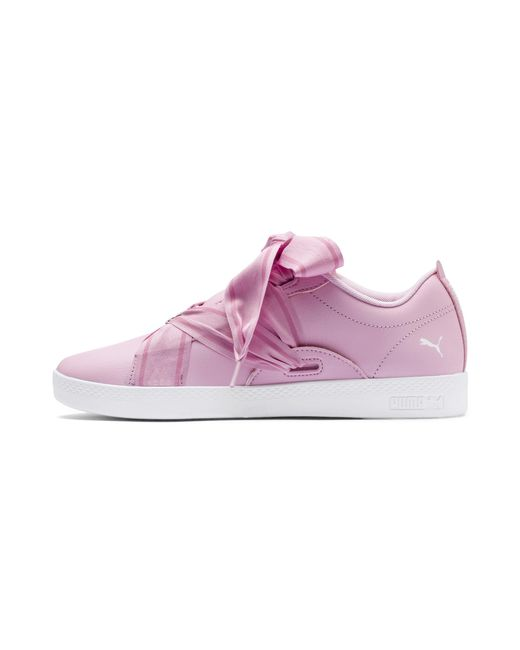 Lyst - PUMA Smash Women s Buckle Sneakers in Pink b42999eed
