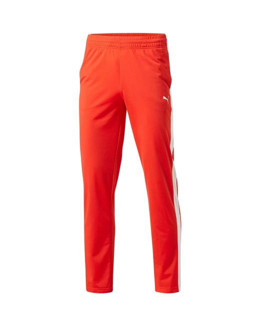 PUMA - Red Contrast Open Pants for Men - Lyst