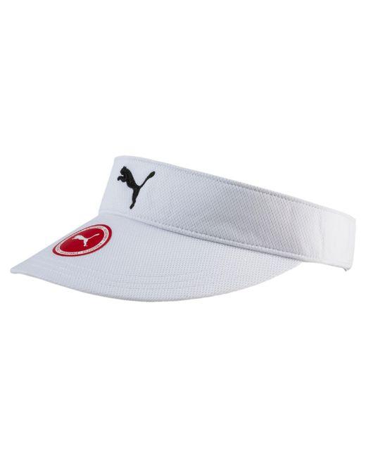PUMA   White Adjustable Golf Visor   Lyst