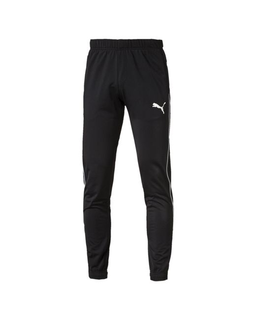 PUMA - Black Essential Tapered Tricot Pants for Men - Lyst