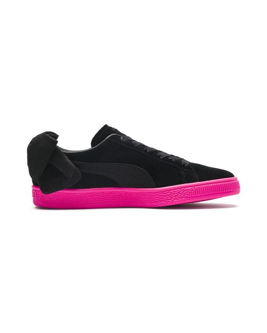 04f5a308f7a Lyst - PUMA Suede Bow Block Women s Sneakers in Black - Save 39%