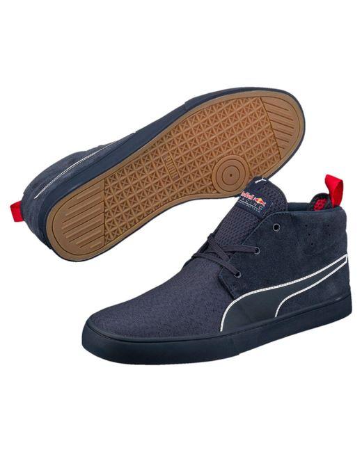 puma red bull racing vulc men 39 s shoes in blue for men lyst. Black Bedroom Furniture Sets. Home Design Ideas