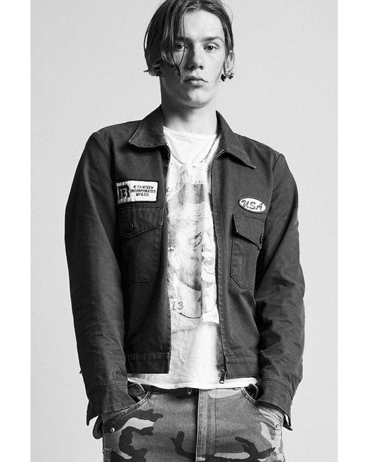 R13 - Black Mechanic Jacket for Men - Lyst
