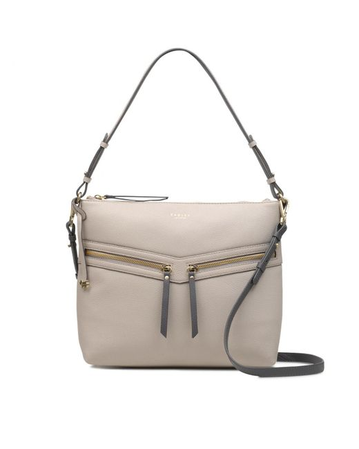 Radley - Gray Smith Street Medium Zip-top Multiway Shoulder Bag - Lyst ... 09016e991ea8b