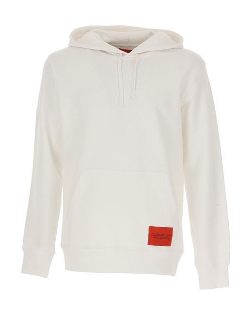 Calvin Klein - White Sweatshirt For Men On Sale for Men - Lyst
