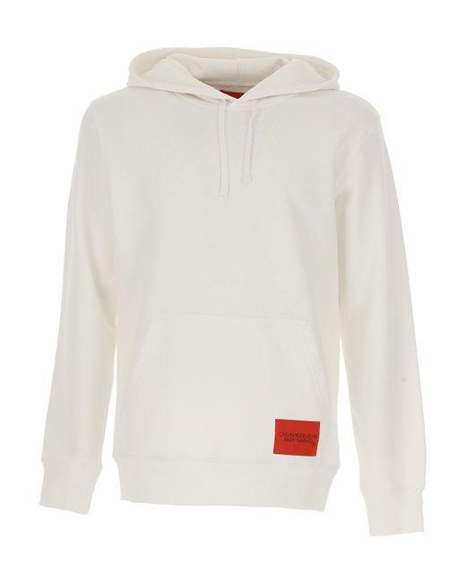 Calvin Klein - White Sweatshirt For Men for Men - Lyst