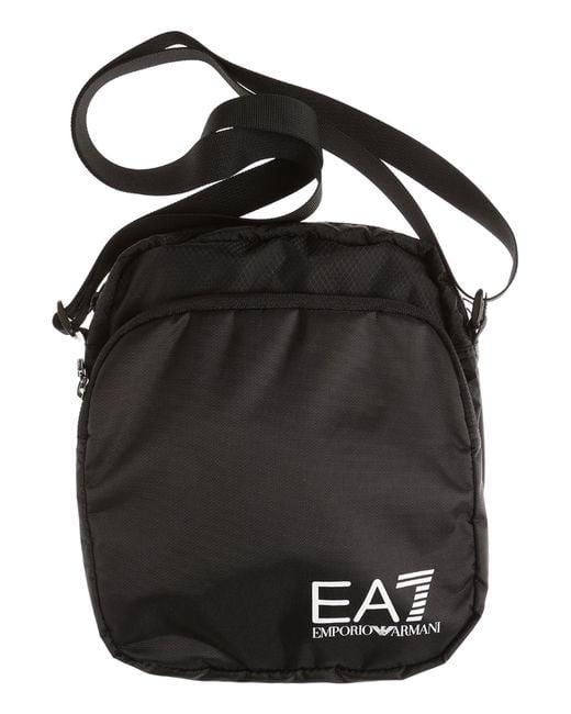 Emporio Armani - Black Messenger Bag For Men for Men - Lyst