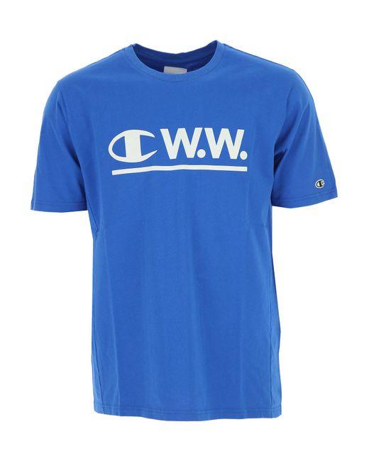 Champion - Blue T-shirt For Men On Sale for Men - Lyst