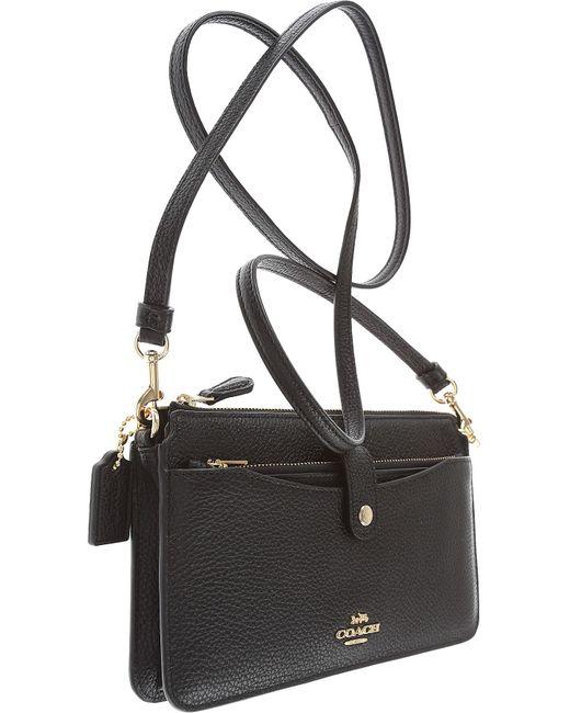 ... COACH - Black Shoulder Bag For Women - Lyst ... 91e4d078e65ee