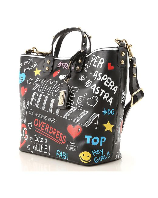 2033a789b2ff Lyst - Dolce   Gabbana Handbag in Black - Save 50%