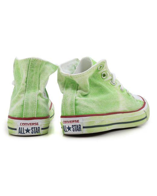 best website cf4c3 8c2bd ... Converse - Green Sneakers For Women On Sale - Lyst ...