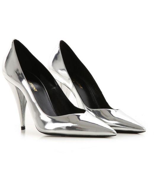 Saint Laurent Pumps Amp High Heels For Women In Silver