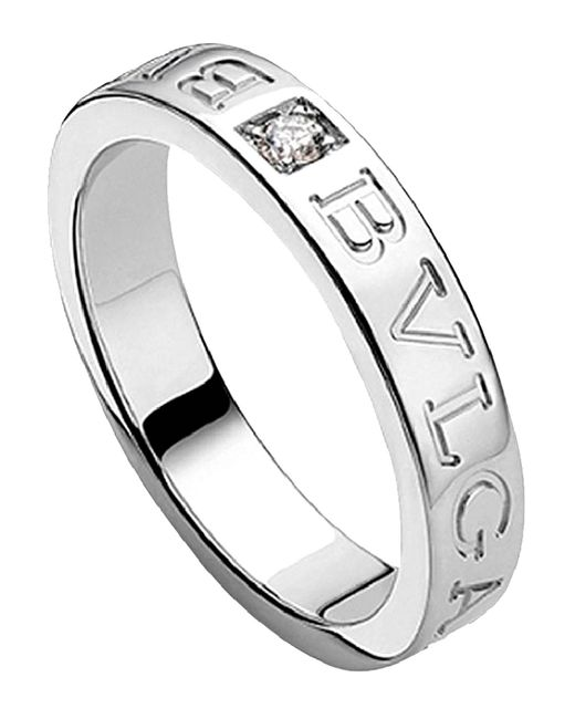 BVLGARI - Metallic - 18kt White-gold Ring - Lyst
