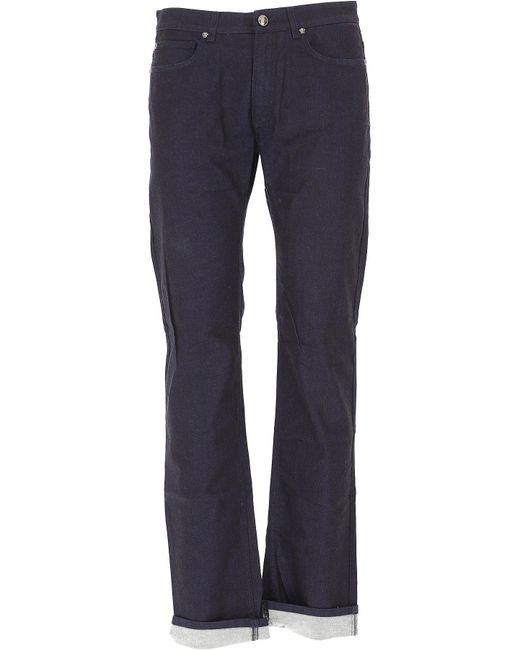 Versace - Blue Jeans On Sale In Outlet for Men - Lyst