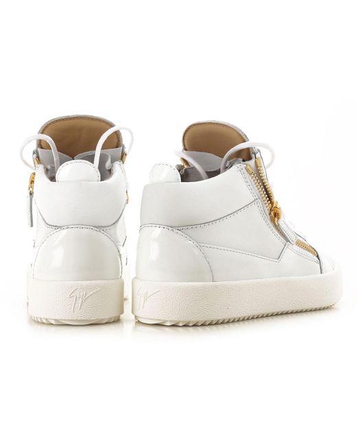 ... Giuseppe Zanotti - White Sneaker Femme Pas cher en Soldes - Lyst ... 38f08d635df9