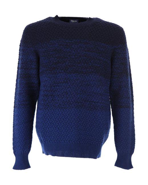 Drumohr - Blue Sweater For Men Jumper On Sale for Men - Lyst