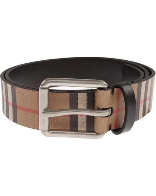 8e6c20960 Cinturones para Hombres Burberry de hombre de color Neutro - Lyst