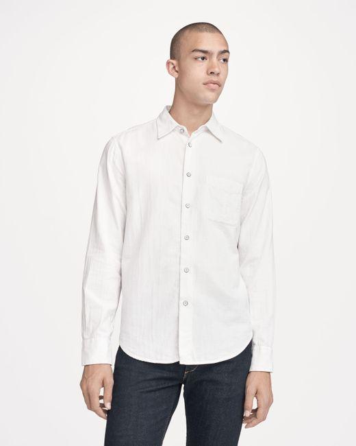 Rag & Bone - White Fit 3 Standard Issue Beach Shirt for Men - Lyst