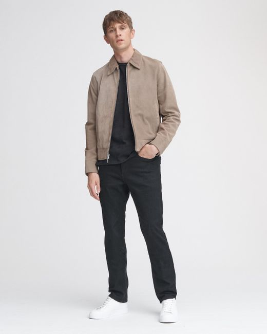 Rag & Bone Gray Suede Garage Jacket for men