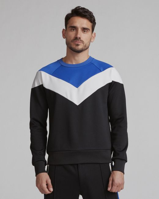Rag & Bone - Blue Color Block Crew for Men - Lyst