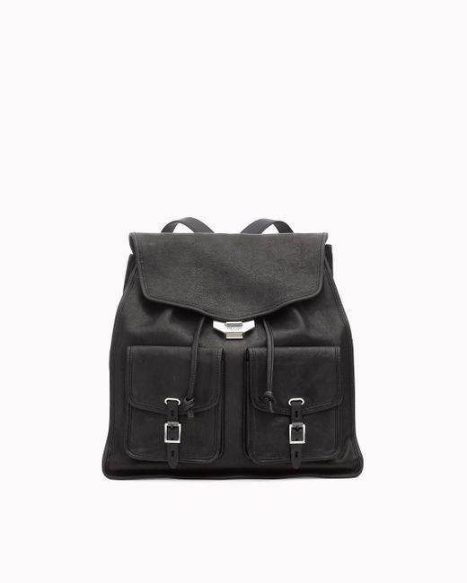 Rag & Bone - Black Field Lambskin Leather Backpack - - Lyst