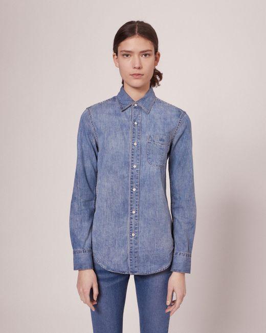 Rag Bone Classic Shirt In Blue Lyst