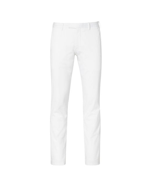 Polo Ralph Lauren - White Stretch Slim Fit Cotton Chino for Men - Lyst