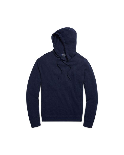 Polo Ralph Lauren | Blue Washable Cashmere Hoodie for Men | Lyst