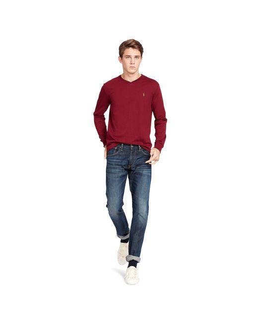 ... Polo Ralph Lauren | Red Cotton Long-sleeve T-shirt for Men | Lyst